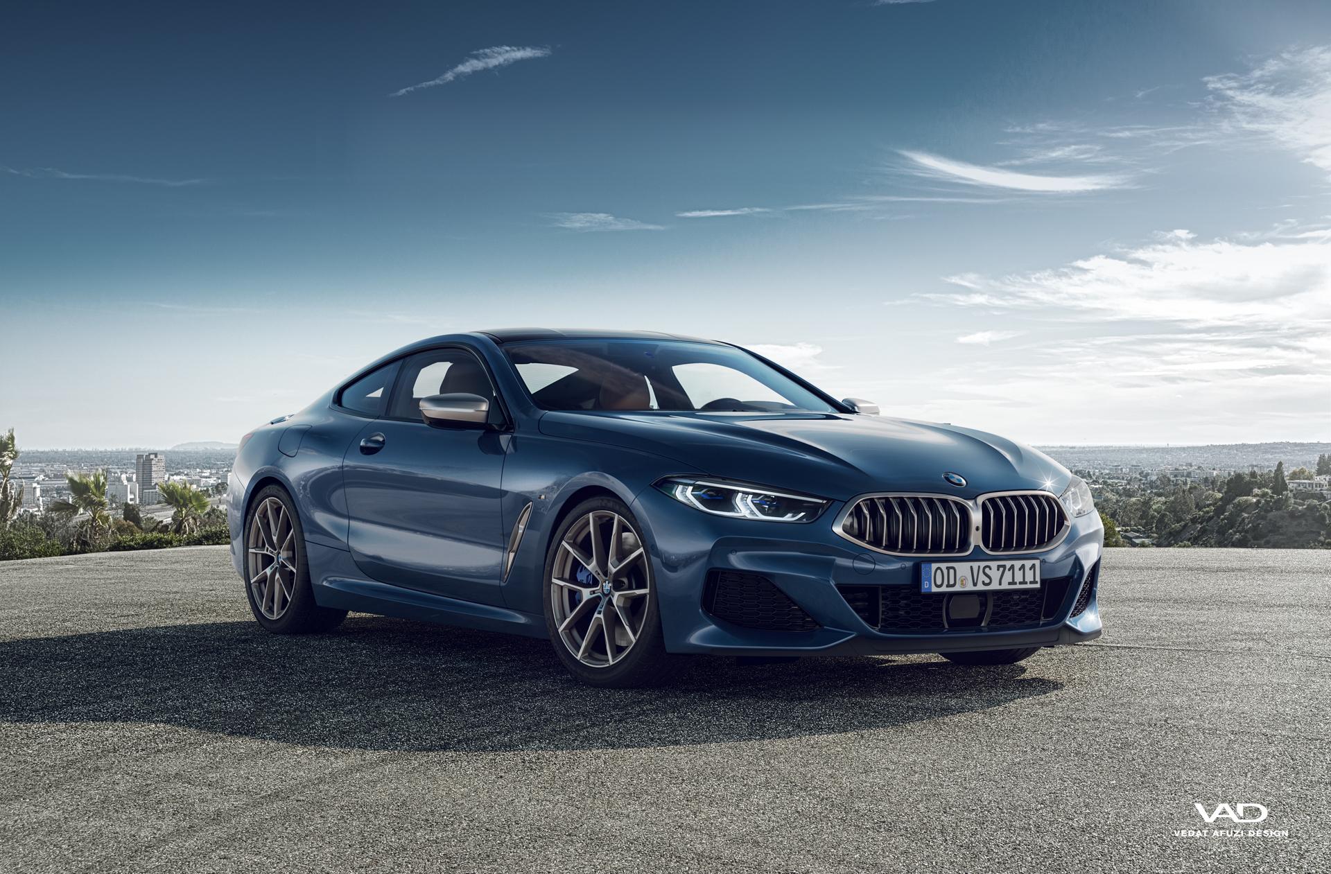 BMW 850i CGI and Backplate