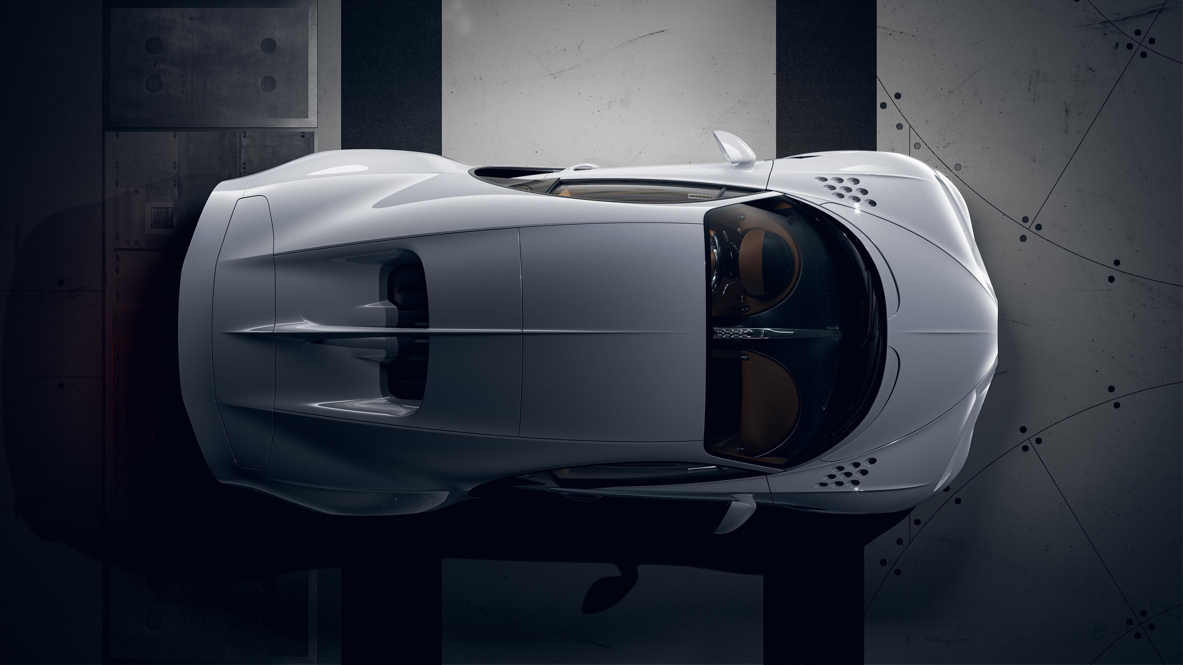 Bugatti Chiron Super Sport Top View Rendering